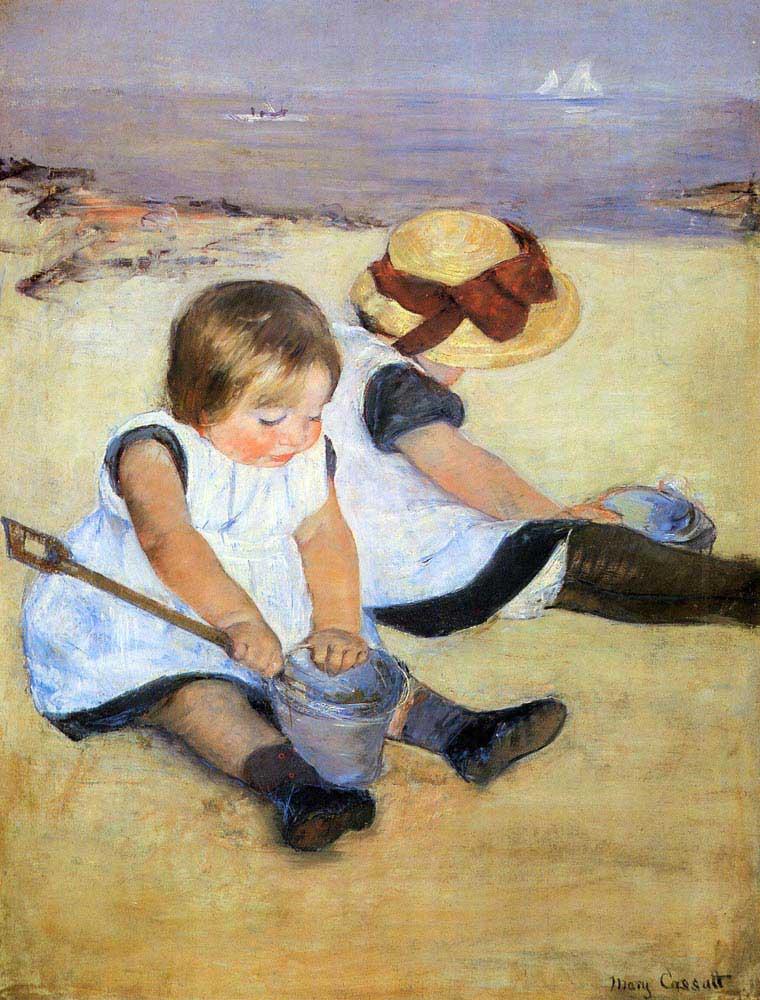 Mary Cassatt Sahilde Çocuklar