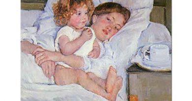 Mary Cassatt Yatak Odasında Kahvaltı