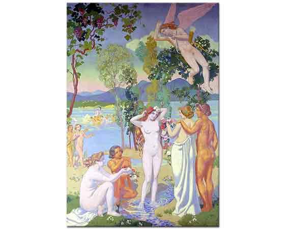 Maurice Denis Psychenin Güzelliğinden Sarhoş Olmuş Uçan Cupid