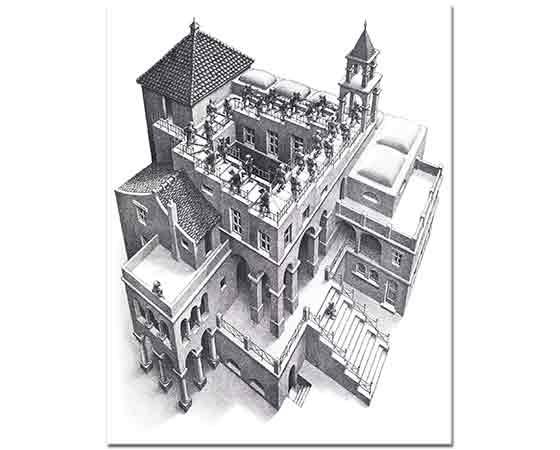 Maurits Cornelis Escher Çıkış ve iniş