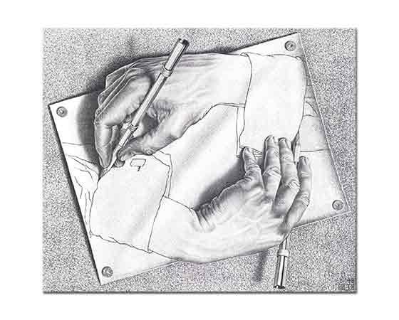 Maurits Cornelis Escher Çizen Eller