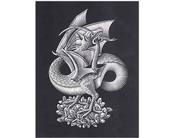 Maurits Cornelis Escher Ejderha