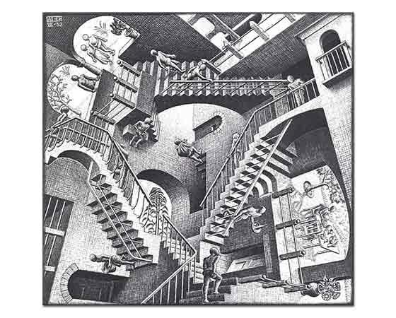 Maurits Cornelis Escher Relativite