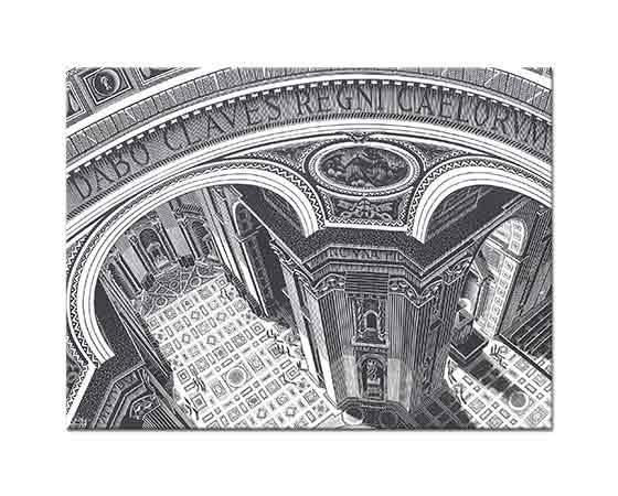 Maurits Cornelis Escher St Peters Roma