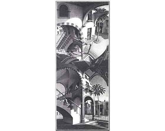 Maurits Cornelis Escher Yukarı ve Aşağı