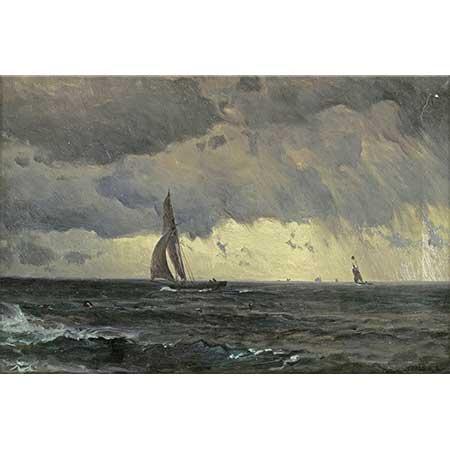 Mauritz de Haas Fırtınada Yelken