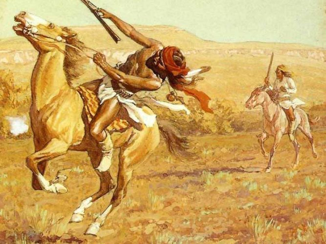 Maynard Dixon Savaşcılar tablosu