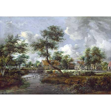Meindert Hobbema Köyün Su Değirmeni