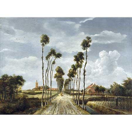 Meindert Hobbema Middelharnis'deki Yol