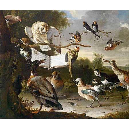 Melchior de Hondecoeter Kuşların Konseri