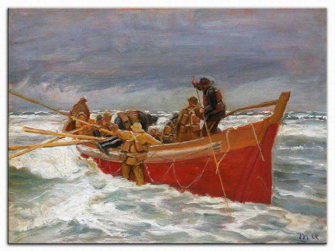 Michael Peter Ancher Kırmızı Kurtarma Sandalı Yola Çıkarken