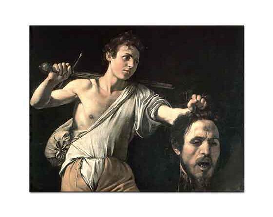 Michelangelo Caravaggio Davud Golyat'ın Kafası ile
