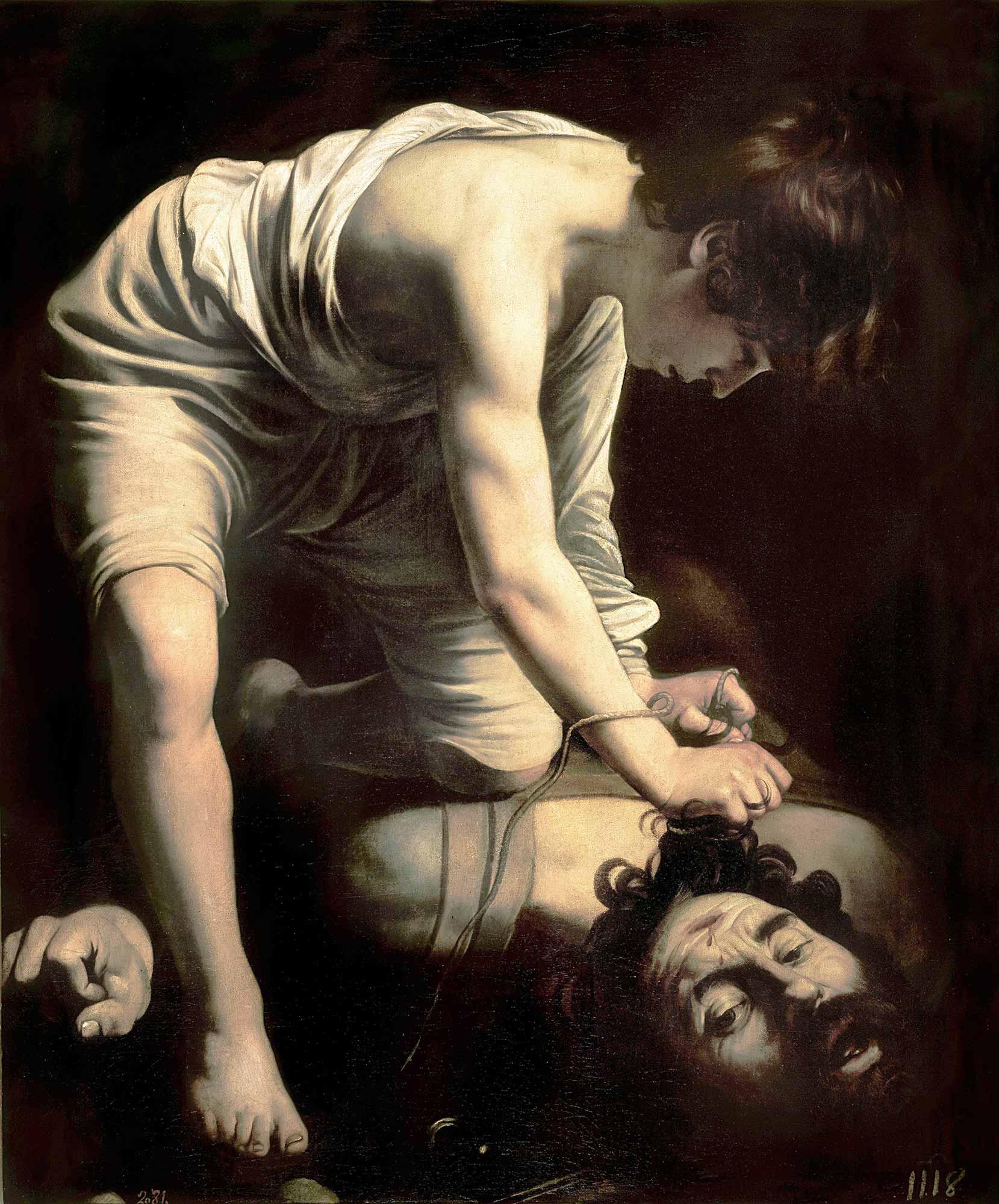 Michelangelo Caravaggio Davut Goliat'ın kafası ile