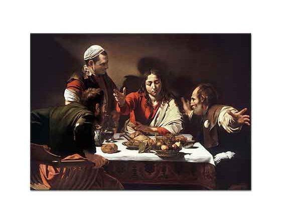 Michelangelo Caravaggio Emmaus'ta Son Akşam Yemeği
