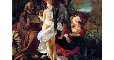 Michelangelo Caravaggio Kaçış Esnasında Mola