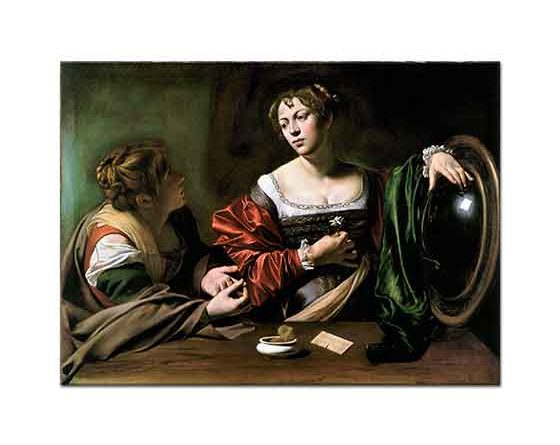 Michelangelo Caravaggio Martha ve Mary Magdalene