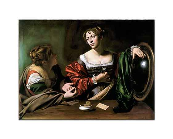 Michelangelo Caravaggio Martha ve Mary Magdalene
