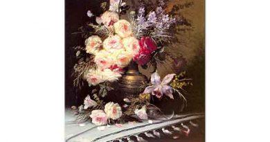 Modeste Carlier Pirinç Vazoda Çiçekler