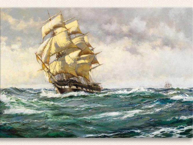 Montague Dawson Açık Denizde