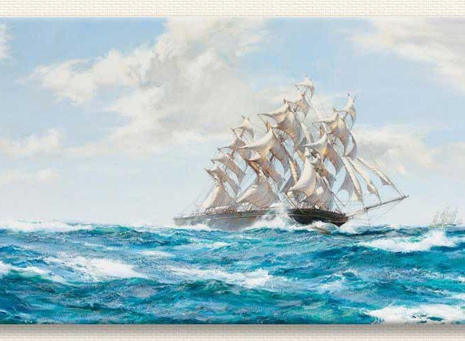 Montague Dawson Süzülüş tablosu