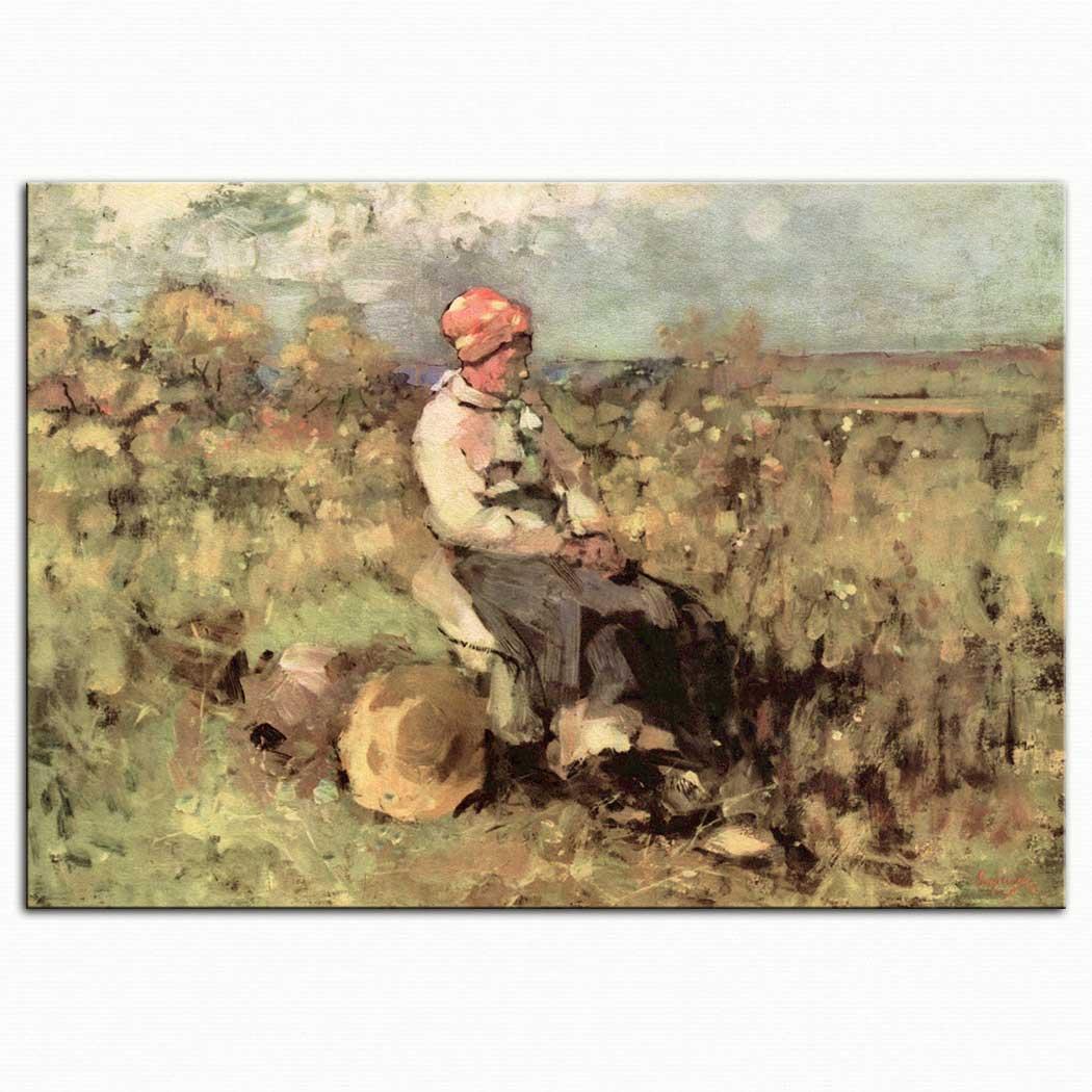 Nicolae Grigorescu Brolle'li Yaşlı Kadın
