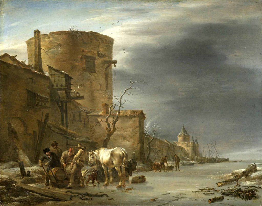 Nicolaes Pietersz Berchem Haarlem Duvarları ve Kış