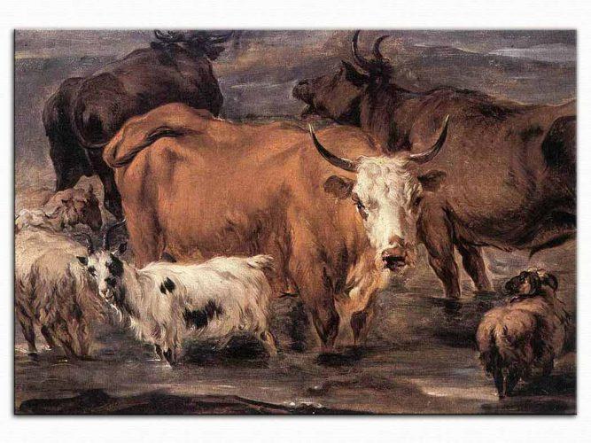 Nicolaes Pietersz Berchem Hayvan Etüdü