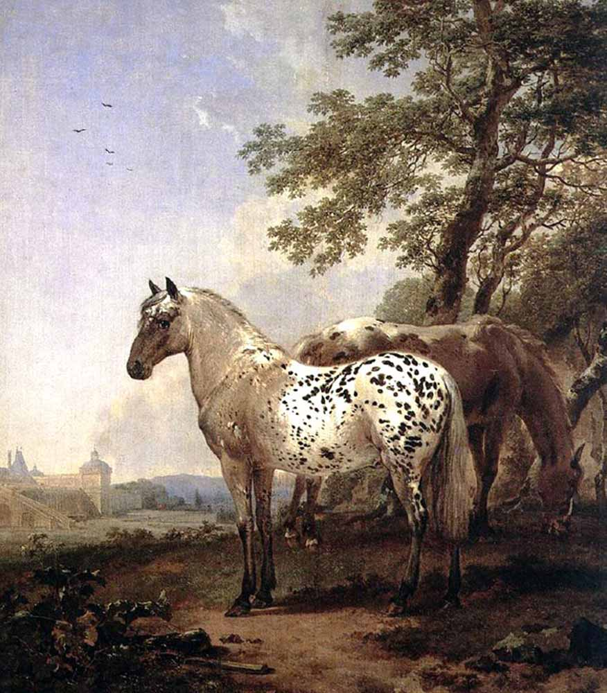 Nicolaes Pietersz Berchem Manzara ve iki At