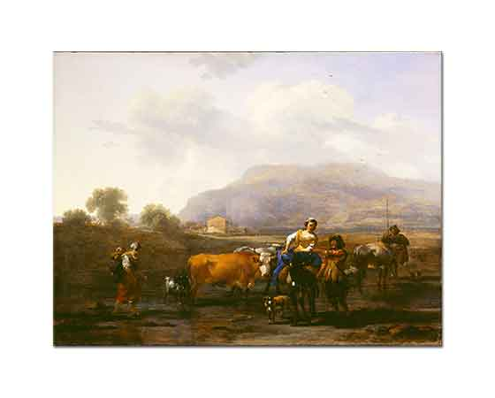Nicolaes Pietersz Berchem Seyahat Eden Çiftçiler