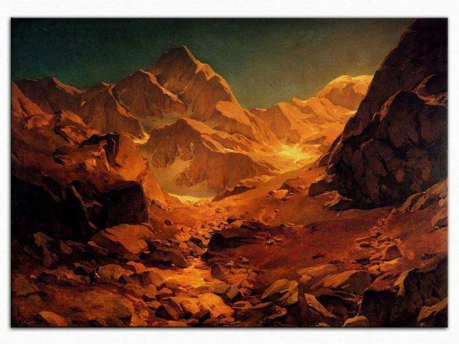 Oswald Achenbach Dağ Manzarası