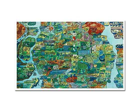 Öyvind Fahlström Dünya Haritasından Bölüm Puzzle