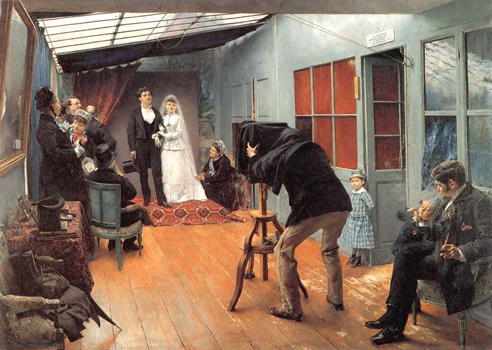 Pascal Jean Dagnan Bouveret Fotoğraf Stüdyosunda Düğün Resmi