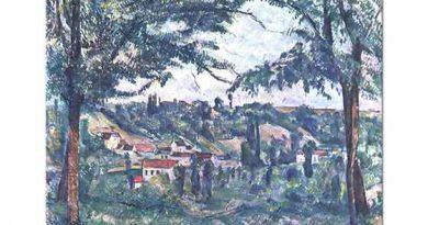 Paul Cezanne Ağaçlı Manzara