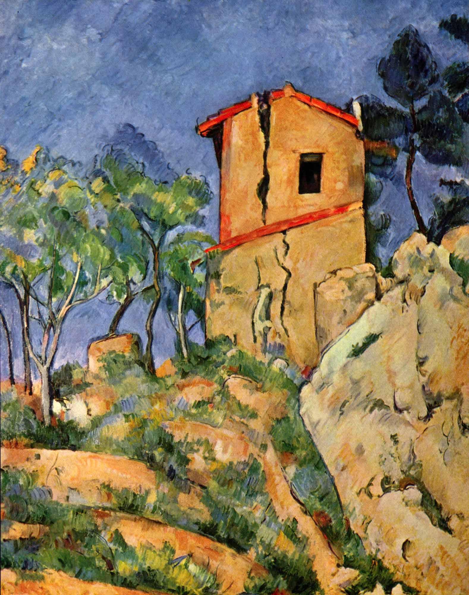 Paul Cezanne Bellevue'da Güvercinli Ev