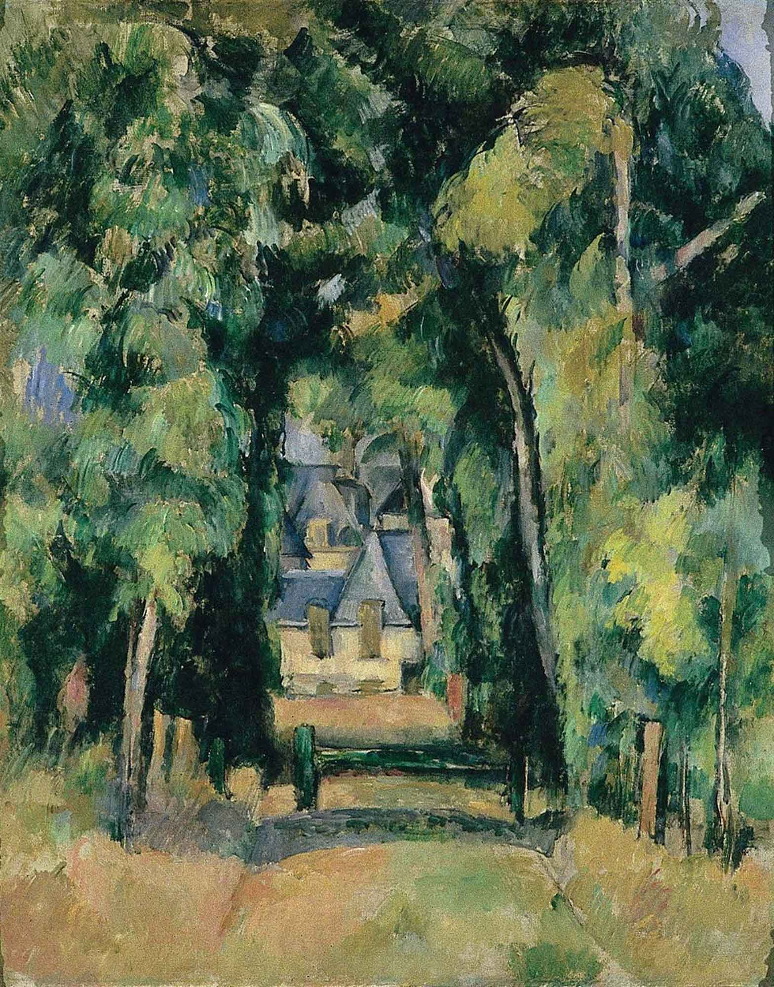 Paul Cezanne Chantilly'de Sokak