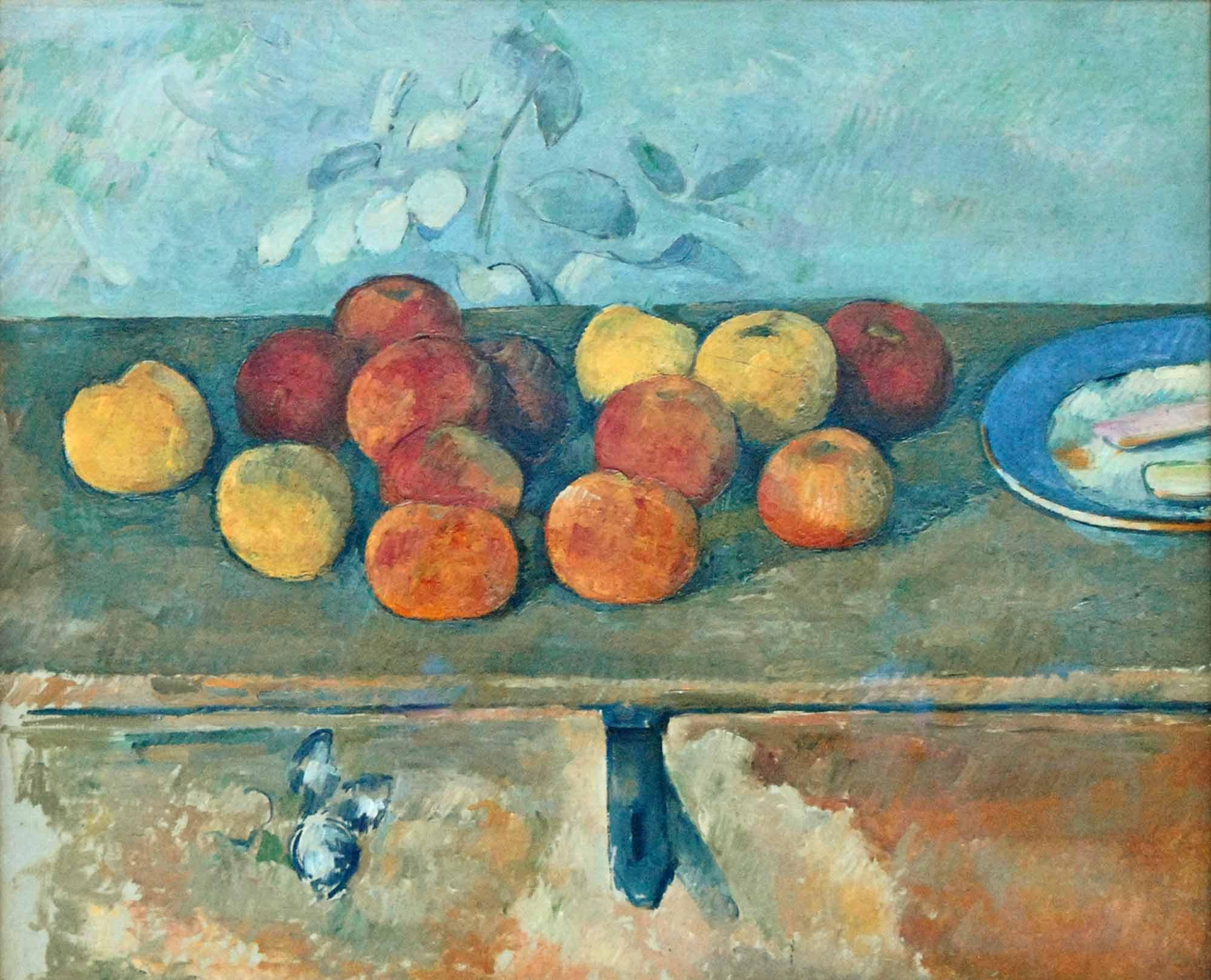 Paul Cezanne Elma ve Bisküvili Natürmort