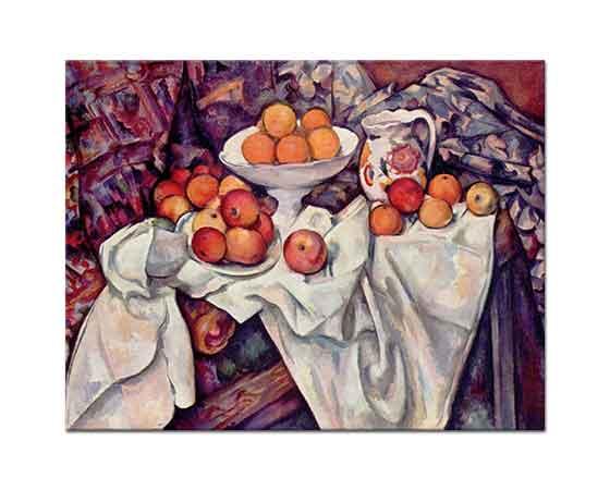 Paul Cezanne Elma ve Portakallı Natürmort