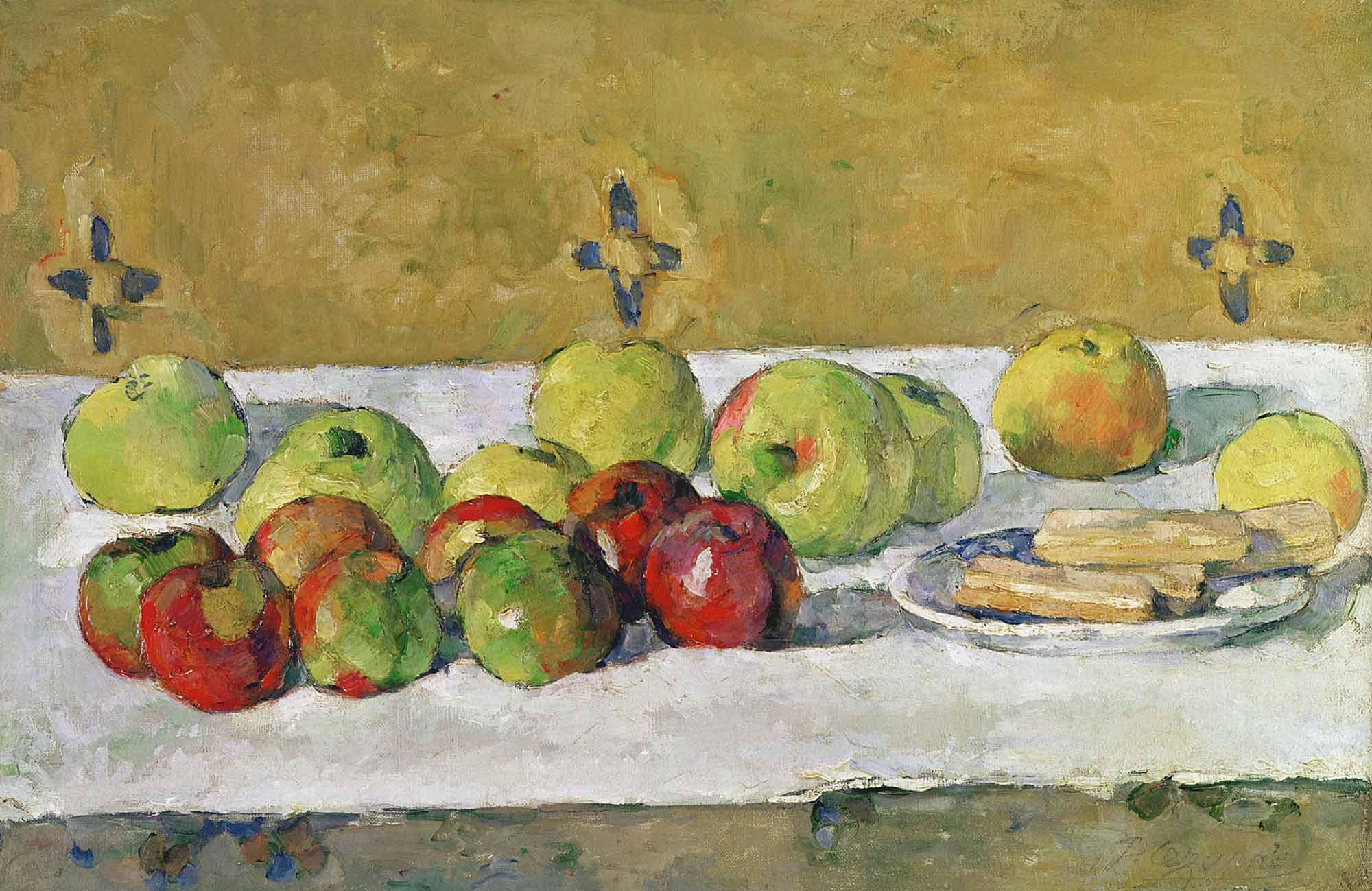 Paul Cezanne Elmalar ve Bisküvitler