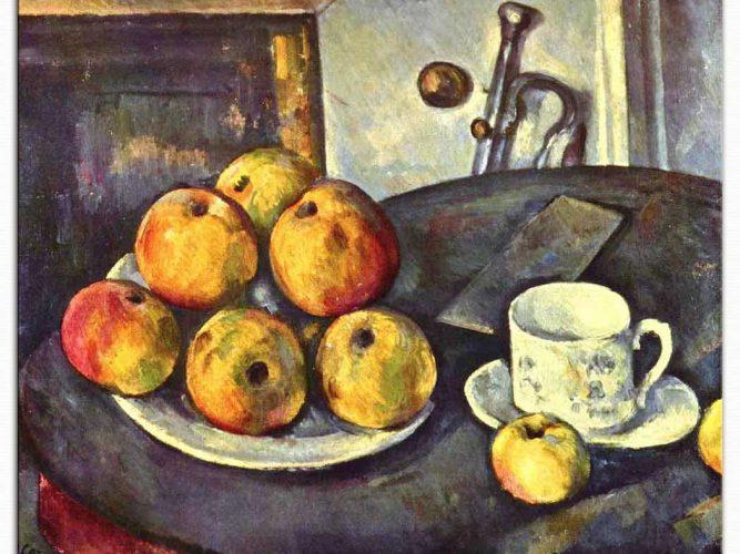 Paul Cezanne Elmalı Natürmort