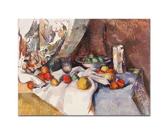 Paul Cezanne Elmalı Natürmort tablo