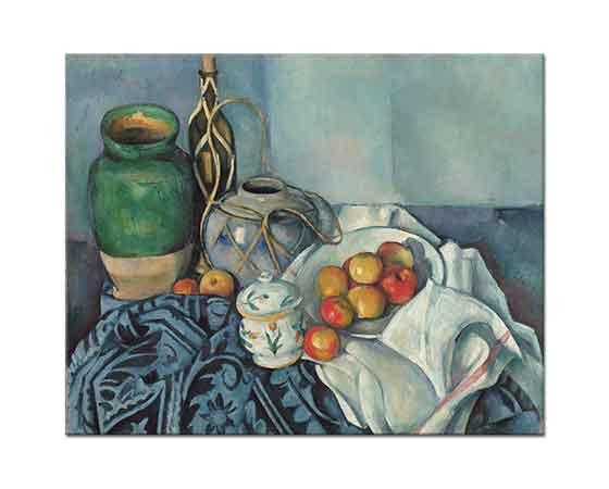 Paul Cezanne Elmalı Natürmort tablosu