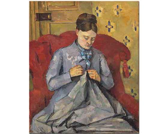 Paul Cezanne Eşinin Portresi