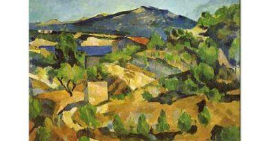 Paul Cezanne Fransız Provenci'nde Dağlar
