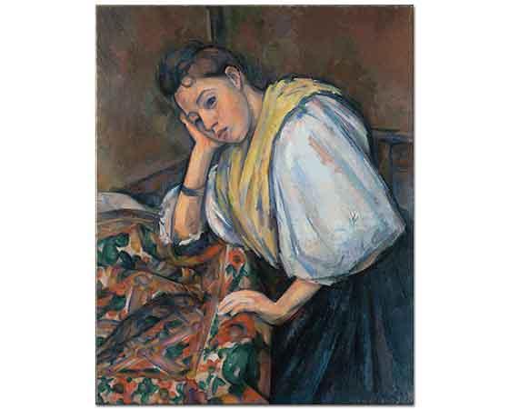 Paul Cezanne Italyan Genç Kız