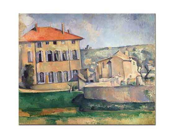 Paul Cezanne Jas de Bouffan'de Ev ve Çiftlik