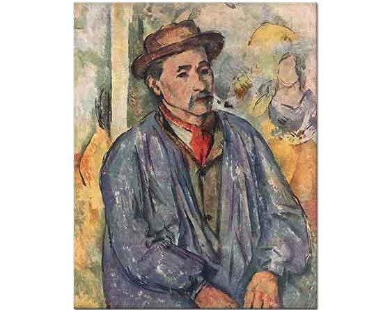 Paul Cezanne Mavi Hırkalı Çiftçi