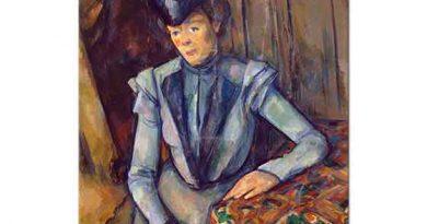 Paul Cezanne Mavili Kadın