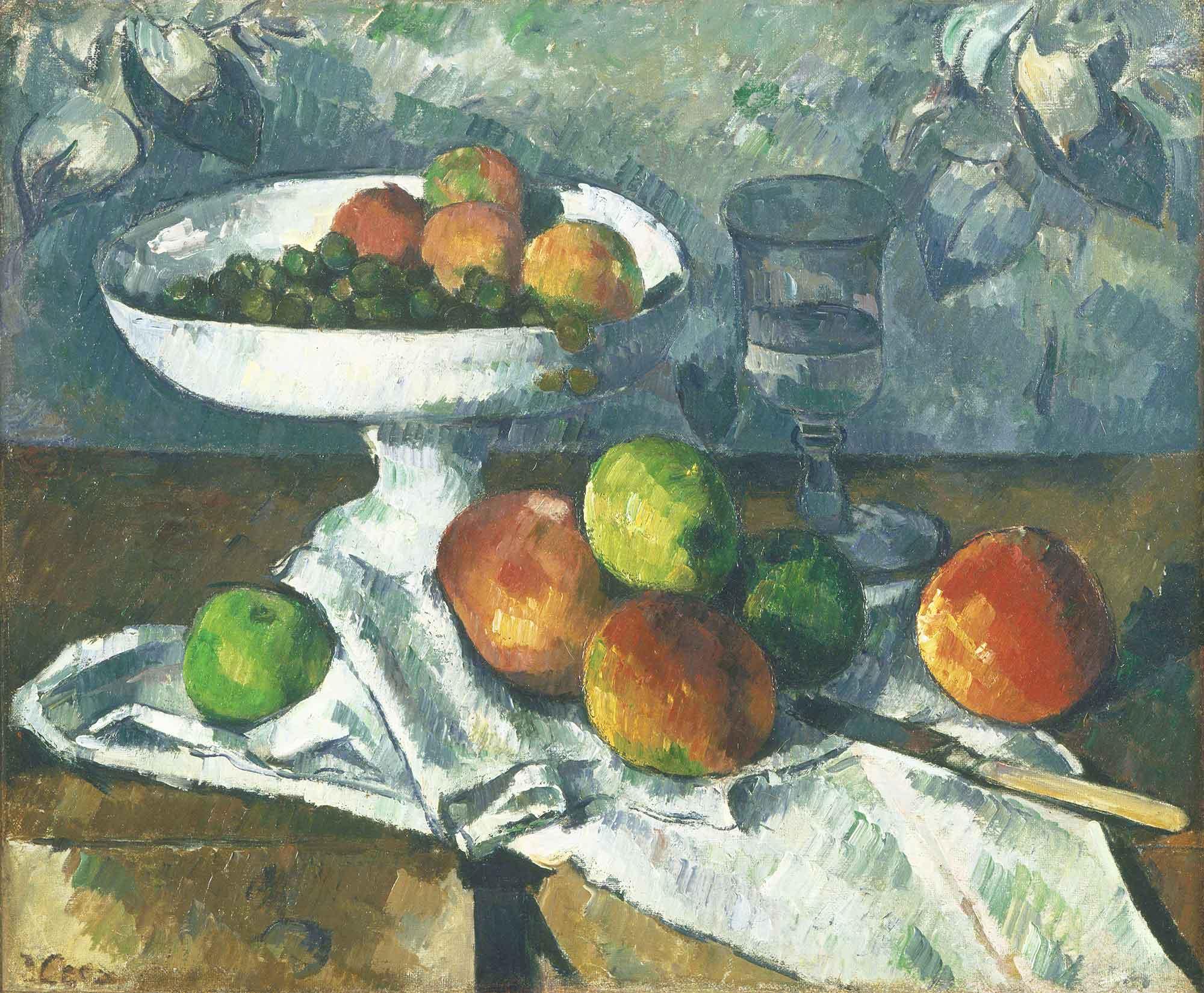 Paul Cezanne Meyve Kabı