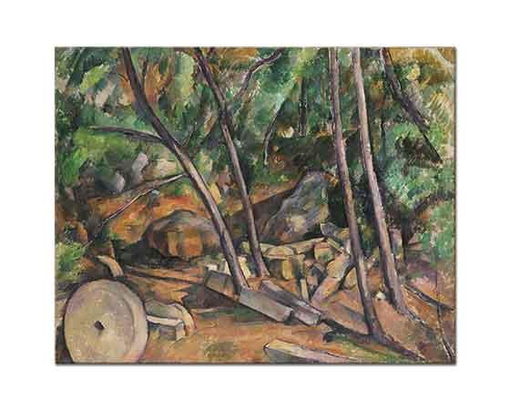 Paul Cezanne Odunlar ve Değirmen Taşı