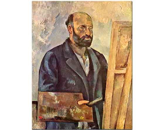 Paul Cezanne Paleti ile Kendi Portresi